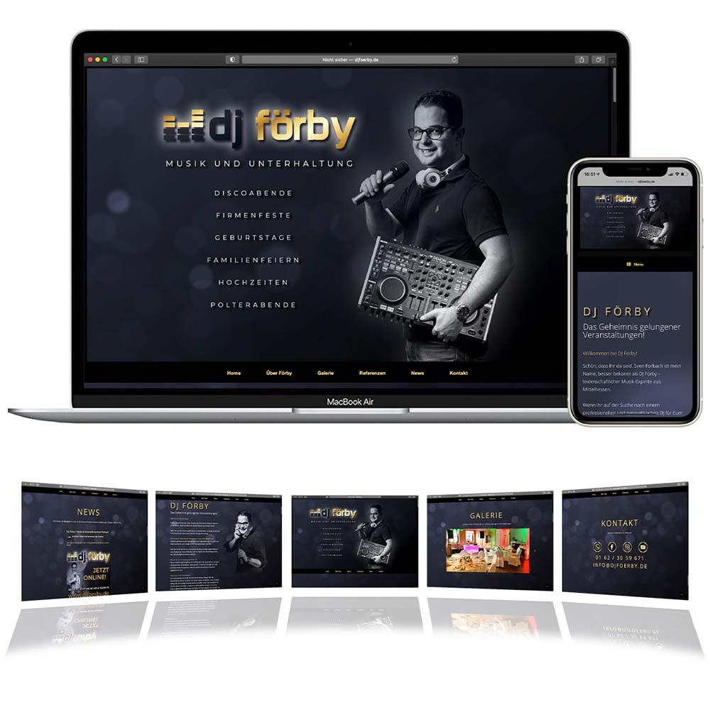 Webseite DJ Förby